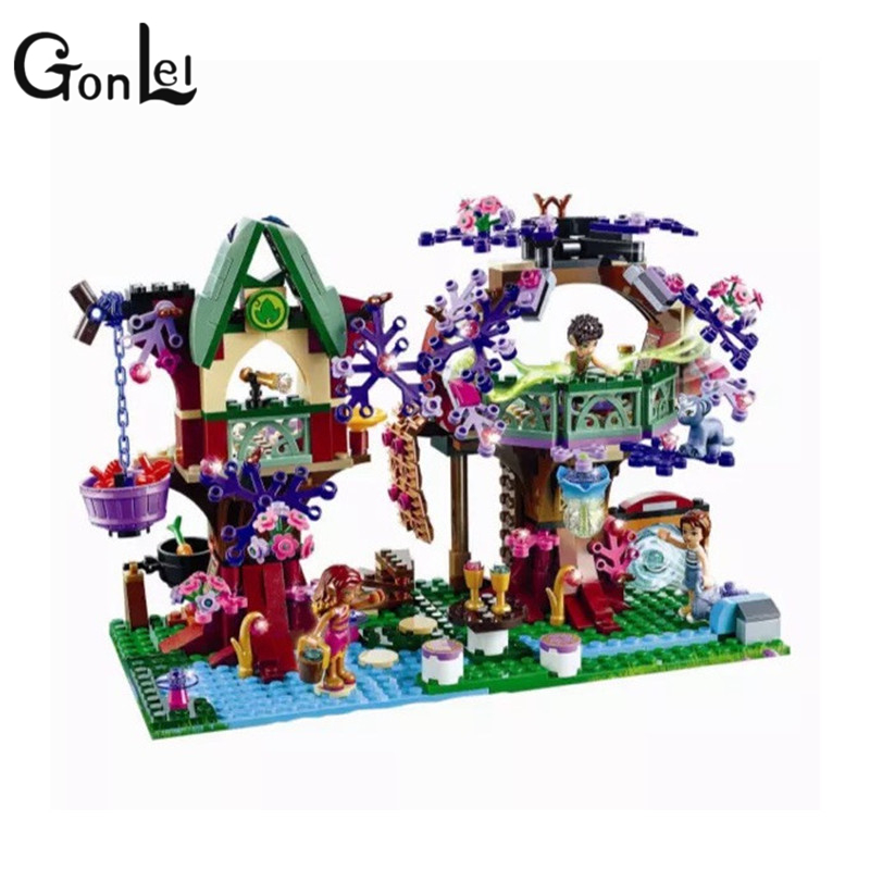 GonLeI Bela 10414 507Pcs Elves The Elves' Treetop Hideaway Emily Jones Model Building Kits Blocks Brick Toy