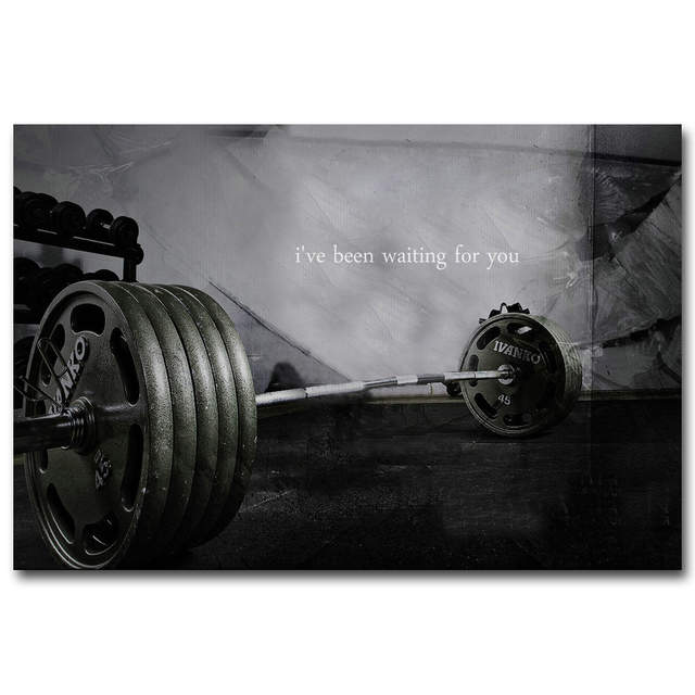 Us 4 91 18 Off Bodybuilding Motivational Art Silk Poster Print 13x20 24x36 Inch Fitness Exercise Picture For Modern Gym Room Wall Decor 054 In