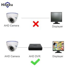 Image 2 - Hiseeu AHDH minicámara CCTV analógica de seguridad con domo familiar, cámara de visión nocturna de corte IR para interiores, Plug and Play, envío gratuito, AHCR512