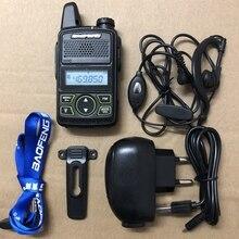 3 uds Baofeng BF T1 mini walkie talkie transceptor UHF 400 470mhz 20CH portátil jamón Radio FM CB de mano transceptor de T1