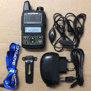 Image 1 - 3pcs Baofeng BF T1 mini walkie talkie transceiver UHF 400 470mhz 20CH Portable Ham FM CB Radio Handheld Transceiver T1