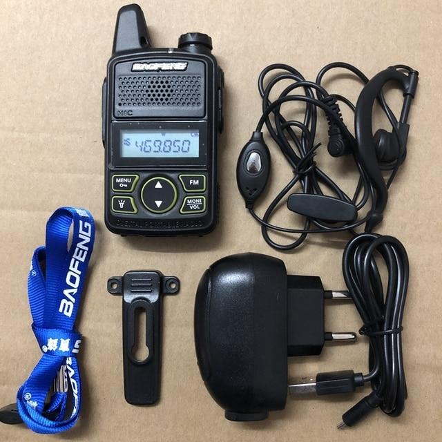 3pcs Baofeng BF T1 mini walkie talkie transceiver UHF 400 470mhz 20CH Portable Ham FM CB Radio Handheld Transceiver T1