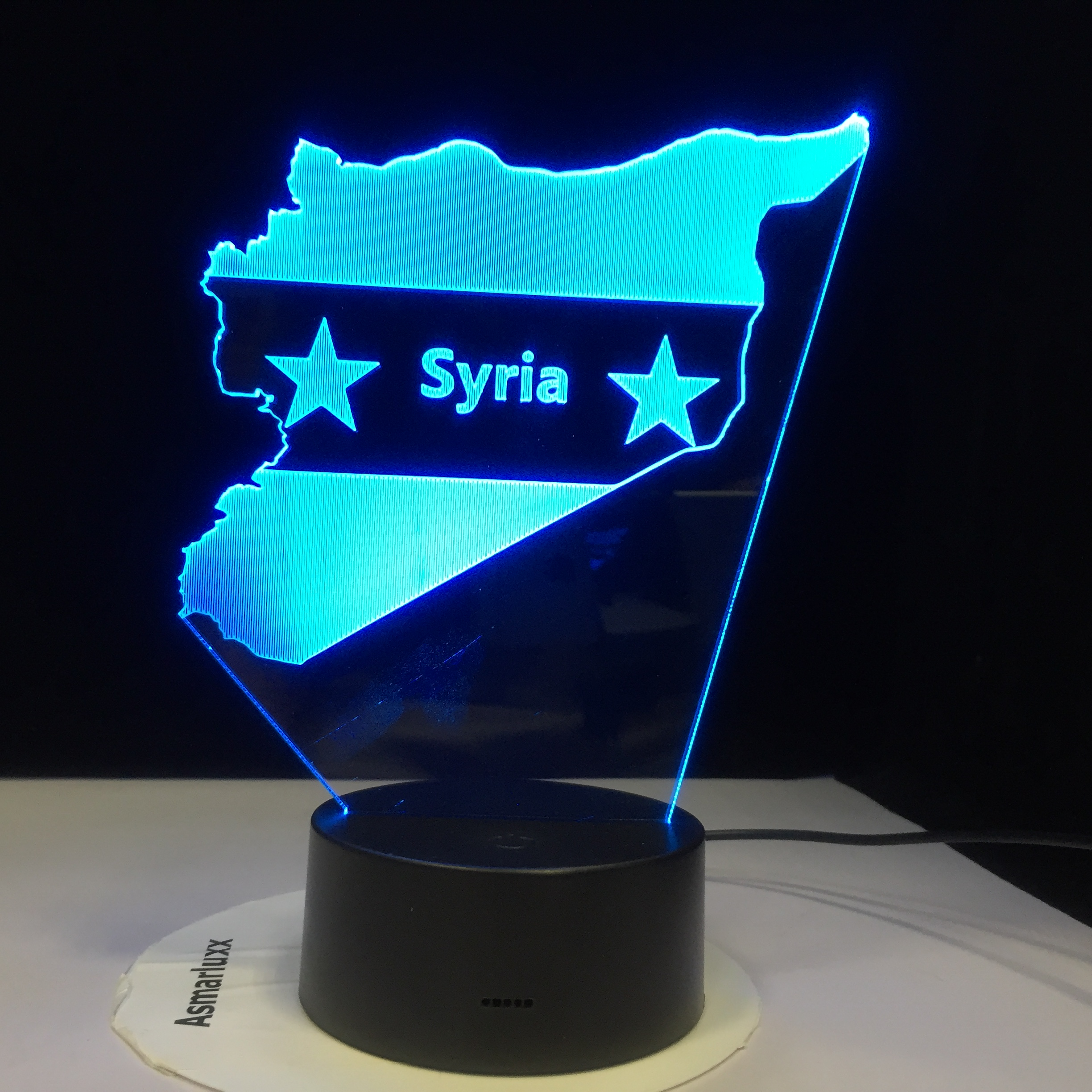 Syria Map  3D LED Night Lights 7 Colors Changing USB Bedroom Decor Shape Table LampBedside Sleep Light Fixture Gifts Dropship