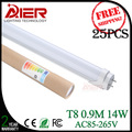 Top quality 3ft 900mm t8 led tube light 14Watt AC85-265V 72pcs SMD2835