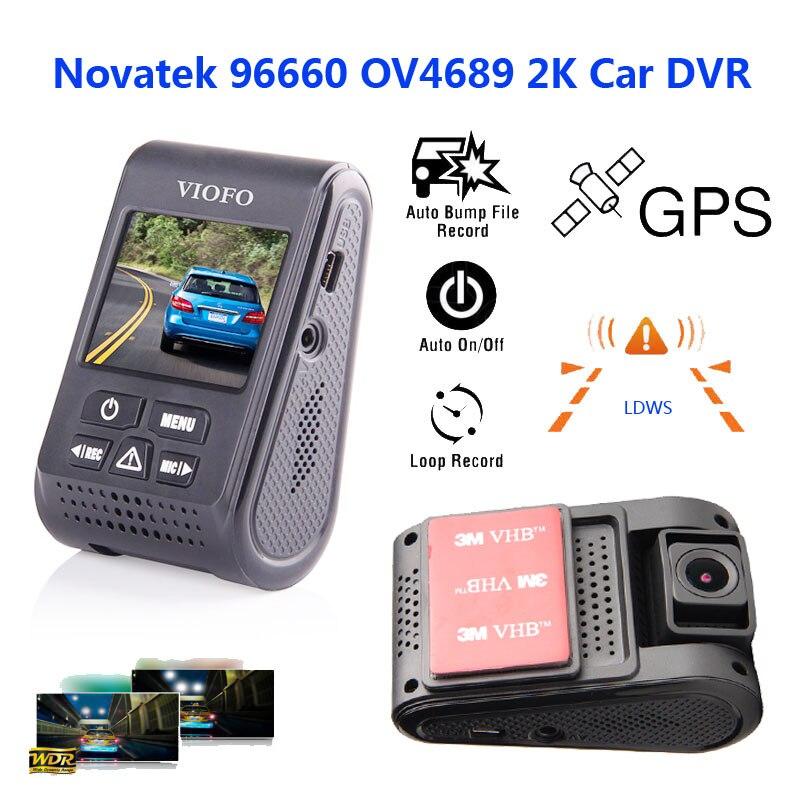 """Prix pour D'origine VIOFO A119 2.0 """"LCD Condensateur Novatek 96660 HD 2 K 1440 p 1080 P Voiture Dash Caméra DVR comme B40 A118 A118C mis à jour version"""