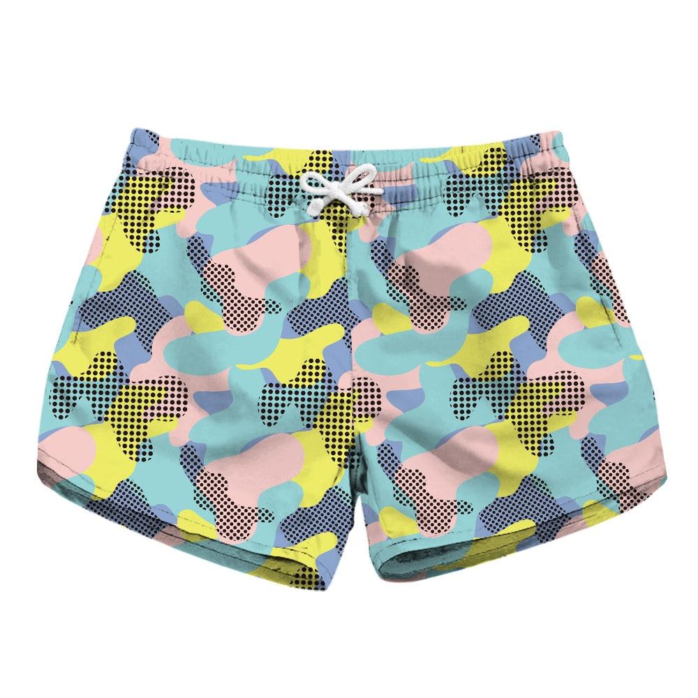 Summer ladies   board     shorts   swimwear woman swimsuits quick dry beach swim   shorts   sports running joggers fitness pattern NET