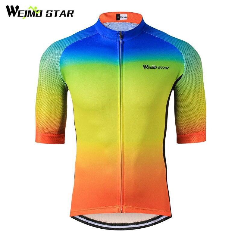 Weimostar Cyklistický dres Top Prodyšné textilie Cyklistické oblečení Muži Léto mtb Bike Jersey Cyklistické tričko Ropa Ciclismo Hombre