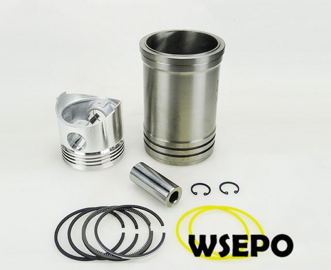 OEM Quality! Swirl Chamber Cylinder Liner/Sleeve+Piston Kit(6 PC kit)for EM190 4 Stroke Small Water Cooled Diesel Engine laidong km4l22t set of pistons with piston rings for one engine for the swirl chamber engine