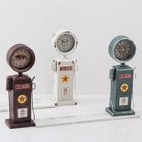 Retro Shabby American Fuel Dispenser/Bowsers/Petrol Pumps/Gas Pumps Desktop Clock for Living Room Home Decor