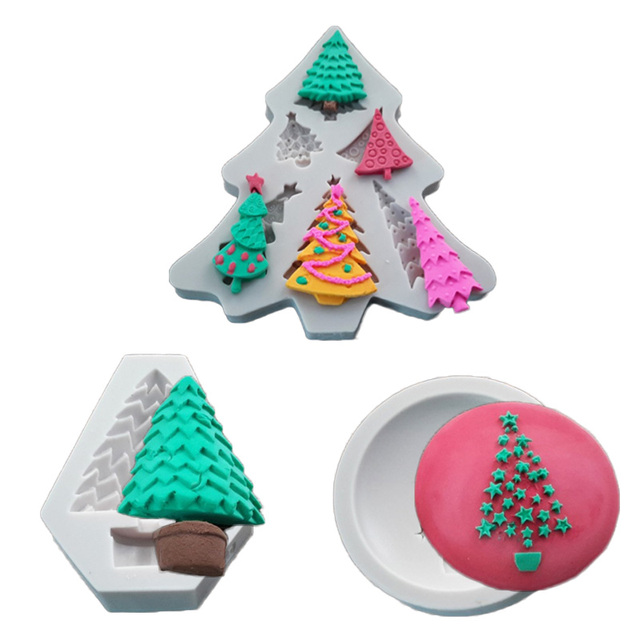 Polymer Clay Christmas Tree.Us 2 46 5 Off Christmas Tree Fondant Cake Decorative Mould Chocolate Pudding Baking Molds Polymer Clay Mold For Handmade Soap In Clay Extruders From