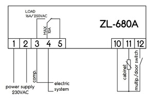 Image 5 - ZL 680A, 16A, Temperature Controller, Thermostat temperature, Cold storage temperature controller, Lilytech