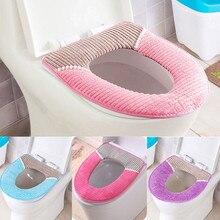 Вельвет PU Closestool мягкий грелка все формы защитное покрытие для ванной комнаты унитаза крышка сиденья многоразовые прочный нетоксичный легко чистить