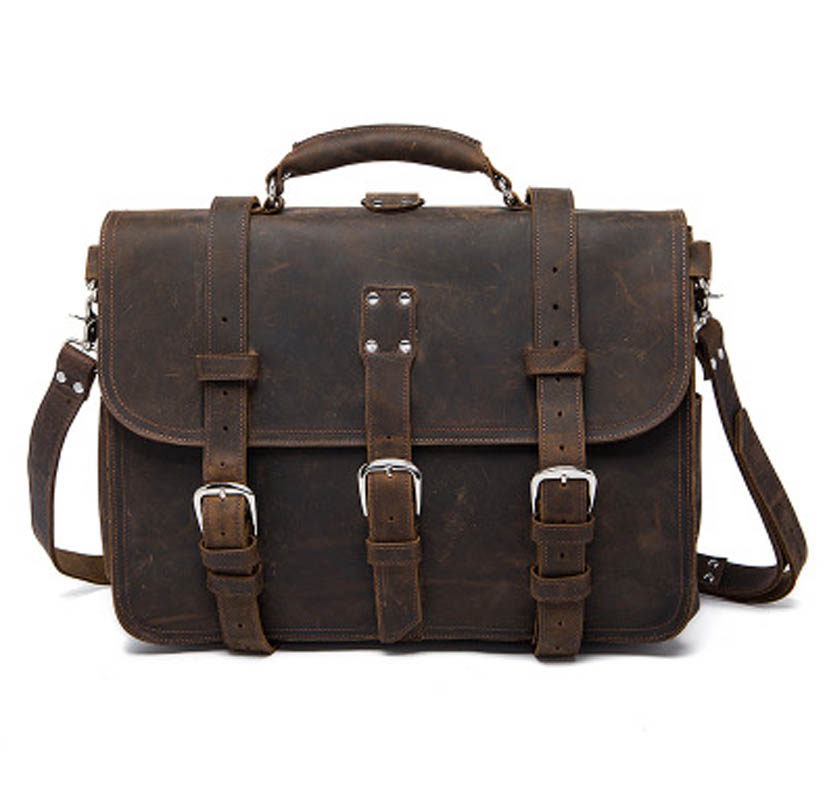 YISHEN Vintage Casual Crazy Horse Leather Men Shoulder Crossbody Bags Business Male Handbags Briefcase Messenger Bags MLT8072 hot sale crazy horse cowhide genuine leather men shoulder bag casual business messenger bags vintage male crossbody briefcase