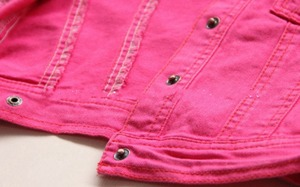 Image 4 - 2 5T באיכות גבוהה אביב בנות מעילי ג ינס הלבשה עליונה רקמת פרח ילדה מעילי ג ינס מעיל ילדים בגדי ילדים בגדים