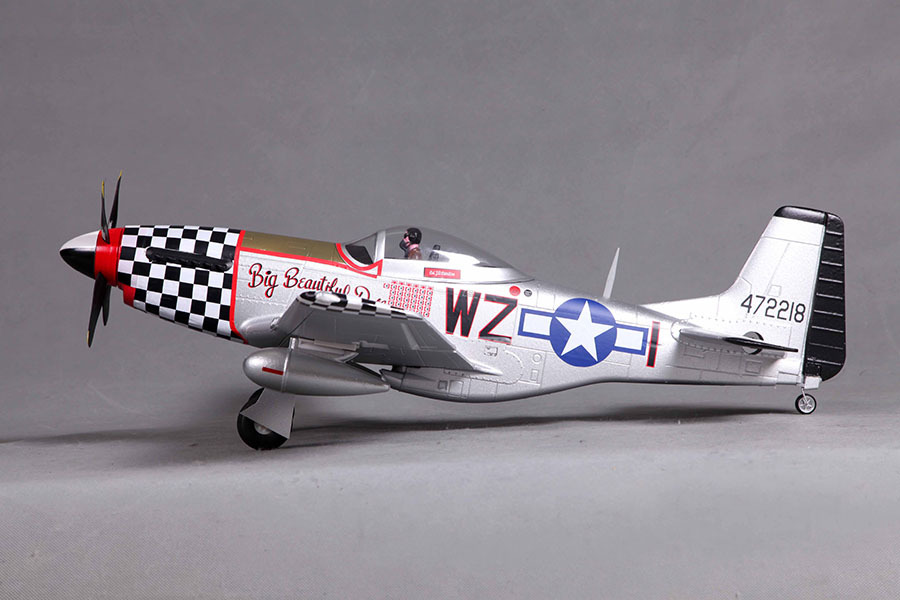 fms 800mm / mini warbird p51 / p 51 mustang v2 big beautiful doll