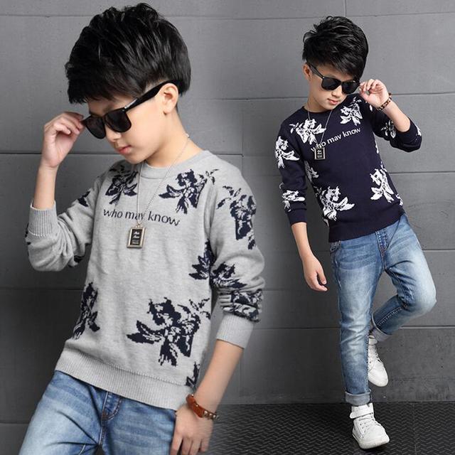 Los niños de Algodón de Primavera de Punto Jersey Niña de Cachemira Color Sólido de Manga Larga Ropa de Abrigo Niño Niño 5-14 Años suéter de la Capa