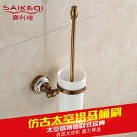 Full Copper European Style Antique Toilet Brush Toilet Brush Set To Clean The Toilet Bowl