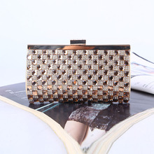 Hot-selling 2016 New Diamond-studded Evening Bag High Quality Clutch Bag Handmade Rhinestone Evening Bags Free Shipping