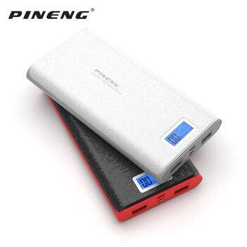 Original banco de energía Pineng 20000 mAh PN-920 portátil cargador de batería externo móvil Dual USB con linterna para Samsung Xiaomi