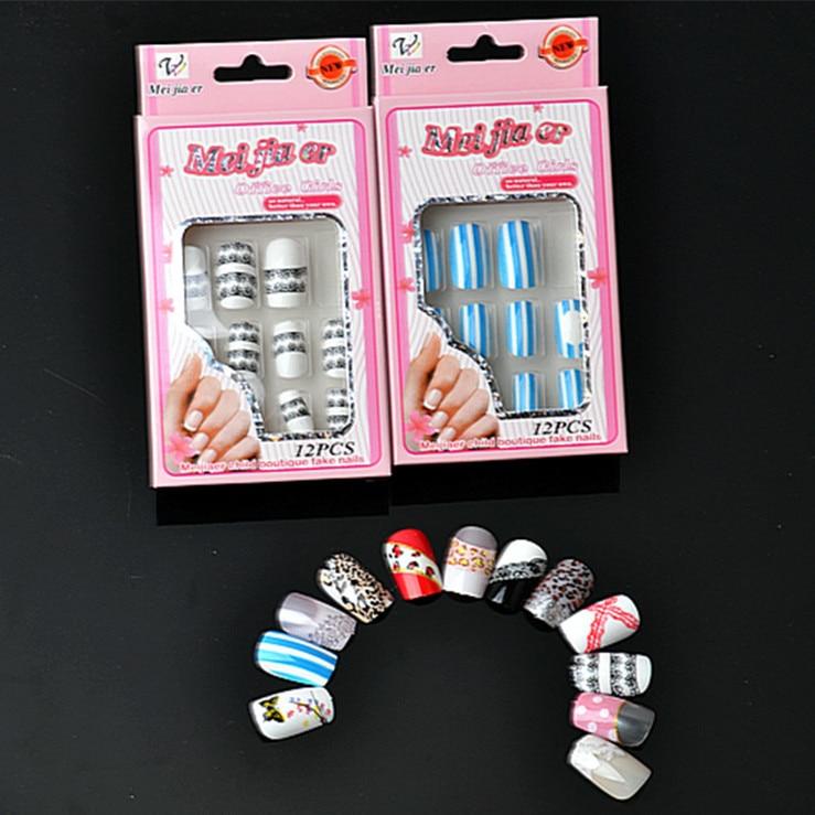 8889 Beauty Oval Nail Tips False Nails Fullwell Clear Full Cover Fake Nail Art Tips French Nail Tips NEW