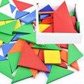 32 Шт./лот Tangram Обучения набор Головоломка Тетрис Игры образования детей DIY деревянные игрушки раннее образование Детские Игрушки