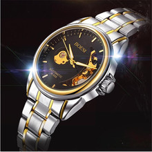 BOSCK666 new men's mechanical watches, high-end leisure hollow out watches, luxury fashion watch business men watch