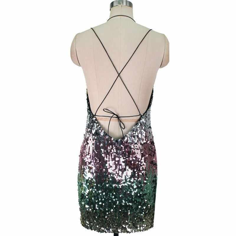 TWOTWINSTYLE Сексуальное Лоскутное Платье без рукавов с блестками женское платье с открытыми плечами с открытой спиной с высокой талией тонкое вечернее платье женская мода