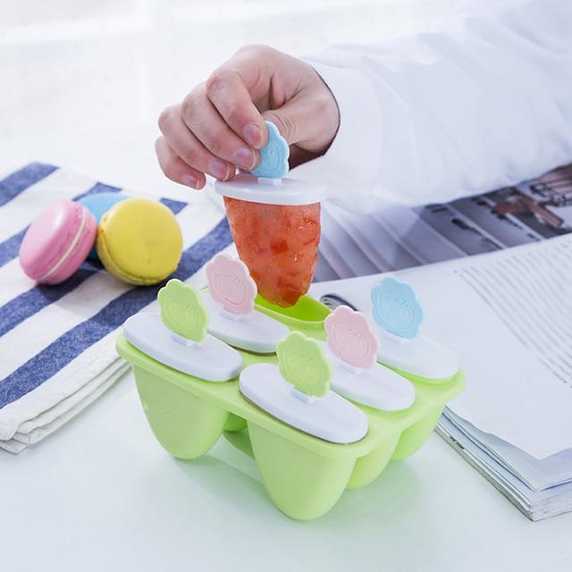 Горячая продажа мультфильм смайлик 6 шт. форма для сладостей DIY леденец кубик формы Лето; Мороженое Инструменты Прямая доставка