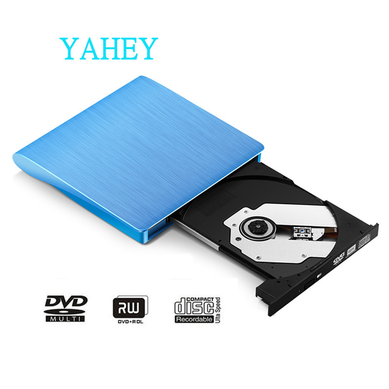US $34 0 |USB 3 0 High Speed External CD/DVD RW DVD/CD ROM Drive Burner  Slim Portable Optical Driver for MacBook Laptop PC windows 10/7/8-in  Optical