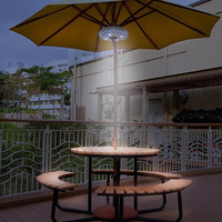 Cantilever Sonnenschirm Licht Outdoor Cantilever Pool Cordless Ständer Deck Licht Tisch Camping MAL999