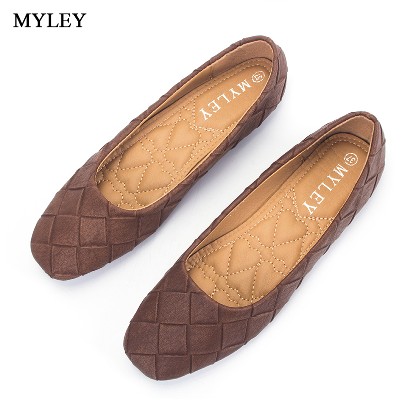 MYLEY 2017 Soft Classic Fancy Women's Casual Square Toe Ballet Comfort Slip On Flats Shoes Shallow mouth Casual Fashion Footwear 2017 summer new fashion sexy lace ladies flats shoes womens pointed toe shallow flats shoes black slip on casual loafers t033109