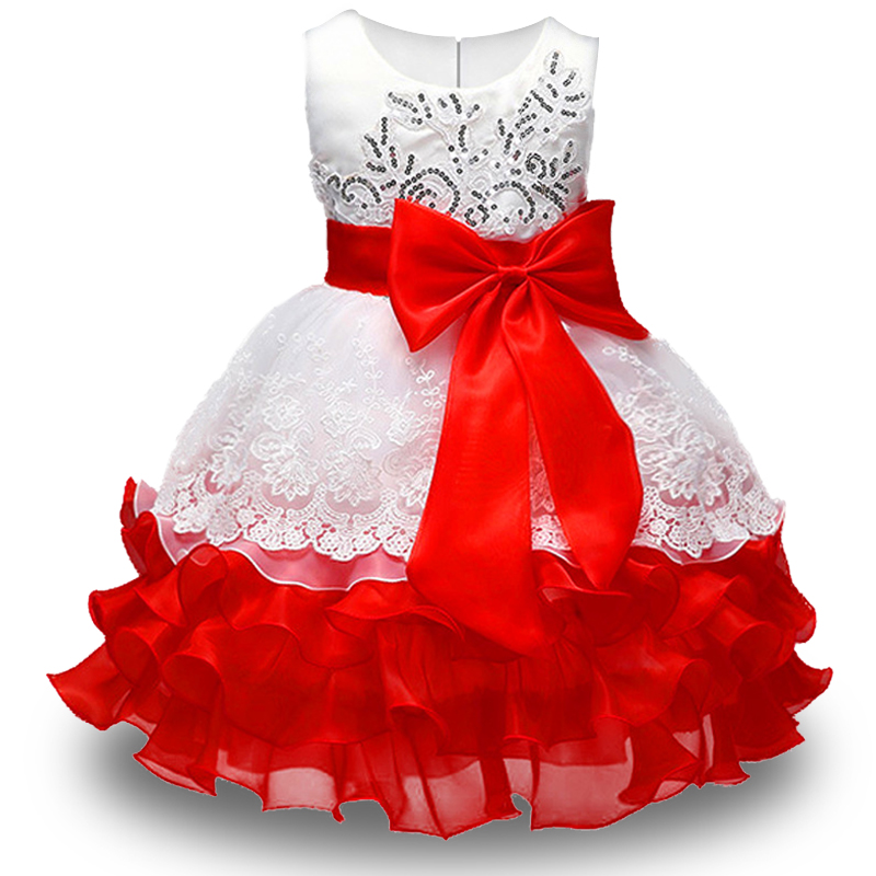 New High quality baby lace princess font b dress b font for girl elegant birthday party