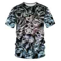 YFFUSHI Male 3d t shirts Skull Print T shirts Men Hip Hop Fashion Tops Pullover Men 3D Tees Men Streetwear Plus Size