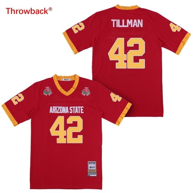 90828c77e Throwback Jersey Men's Arizona State Sun Devils 42 Pat Tillman Pose Bowl  Game College Football Jersey Size S-XXXL Fast Shipping