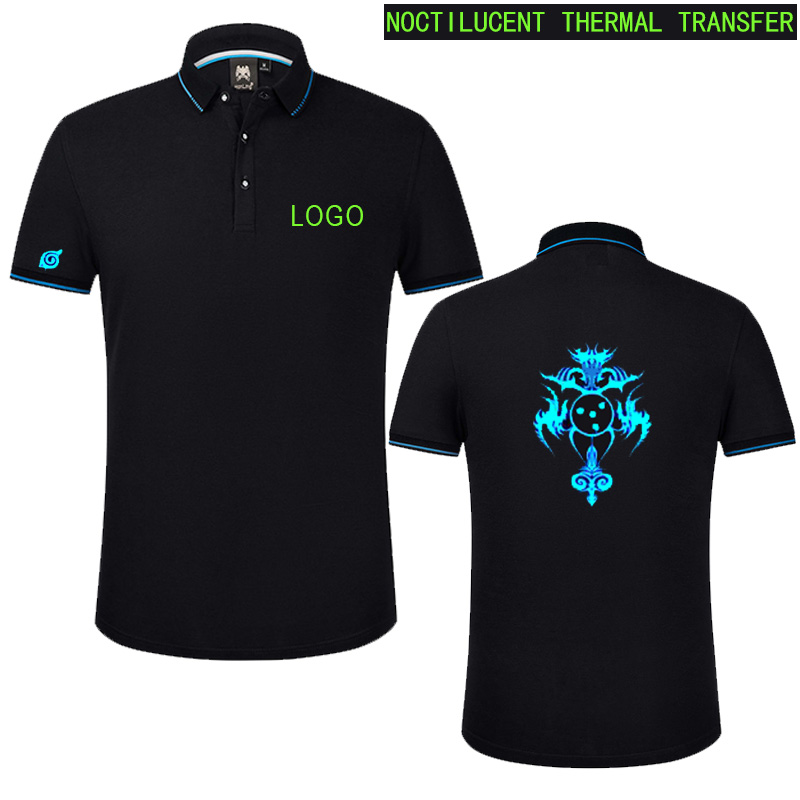 Personalized   polo   shirt with embroidered custom-made message or text. Perfect gift for everyone.