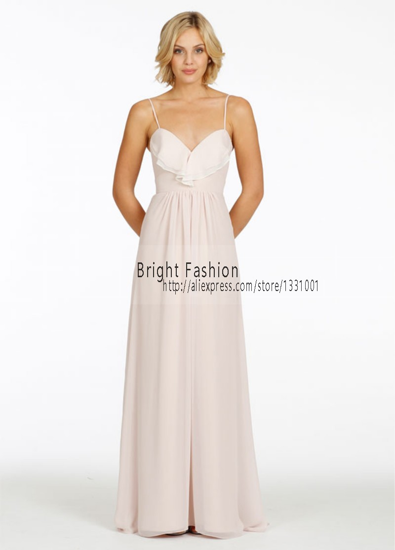 Compare prices on pale bridesmaid dress online shoppingbuy low 2016 pale pink bridesmaid dresses chiffon party dress sexy beach bridesmaids for women long vestido de ombrellifo Image collections