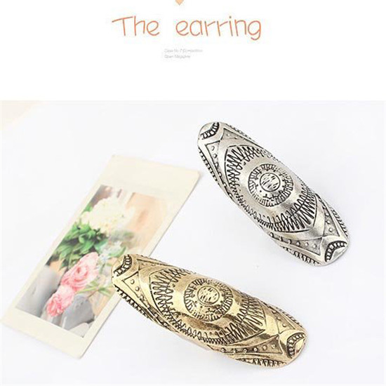 SHUANGR Summer Style Boho New Vintage Tibet Silver-Color Gold Color Carving Ring Noble Midi Finger Ring for Women Jewelry Gift