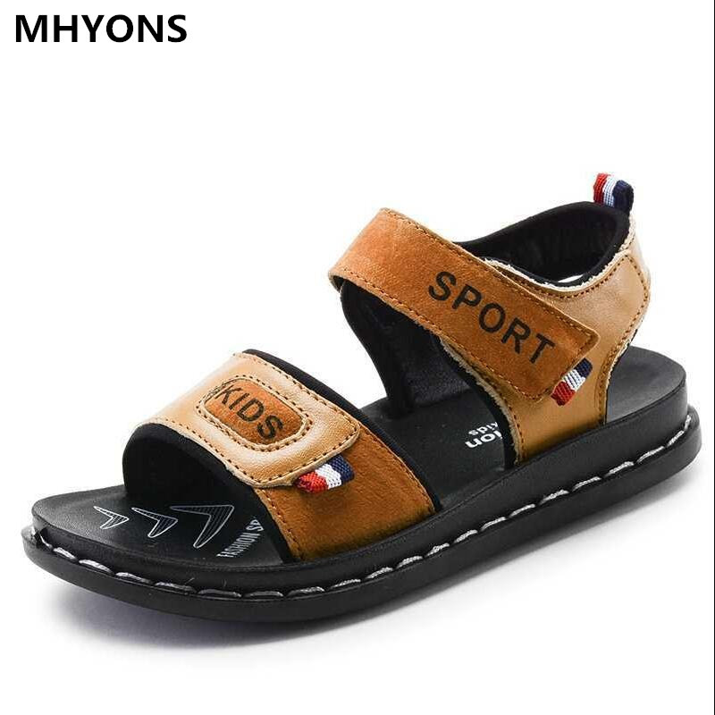 2018 Summer Beach Boy Sandals Kids Genuine Leather Shoes Fashion Sport Sandal Children Sandals For Boys Leather Casual Shoes