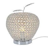 Современных Хрустальное яблоко Прикроватные светильники роскошный кристалл прикроватные Кристалл листьев Гостиная настольный свет кабин