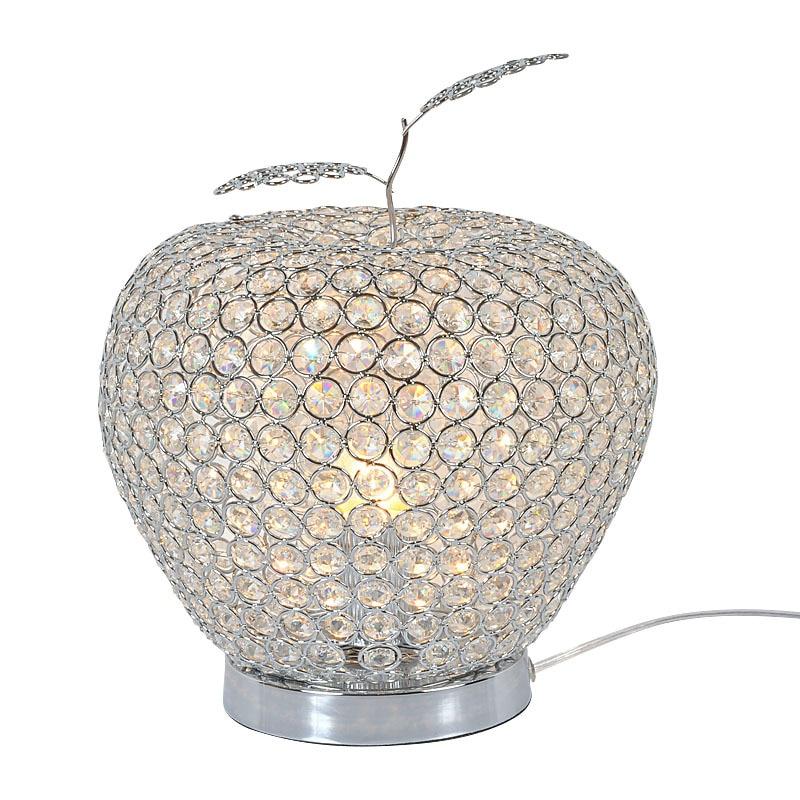 Modern Crystal Apple Bedroom Table Lamps Luxury Crystal