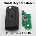 Flip Remote Key 2 Buttons 433MHz CE0536 Model for CITROEN C2 C3 C4 C5 with ID46 chip Car Control