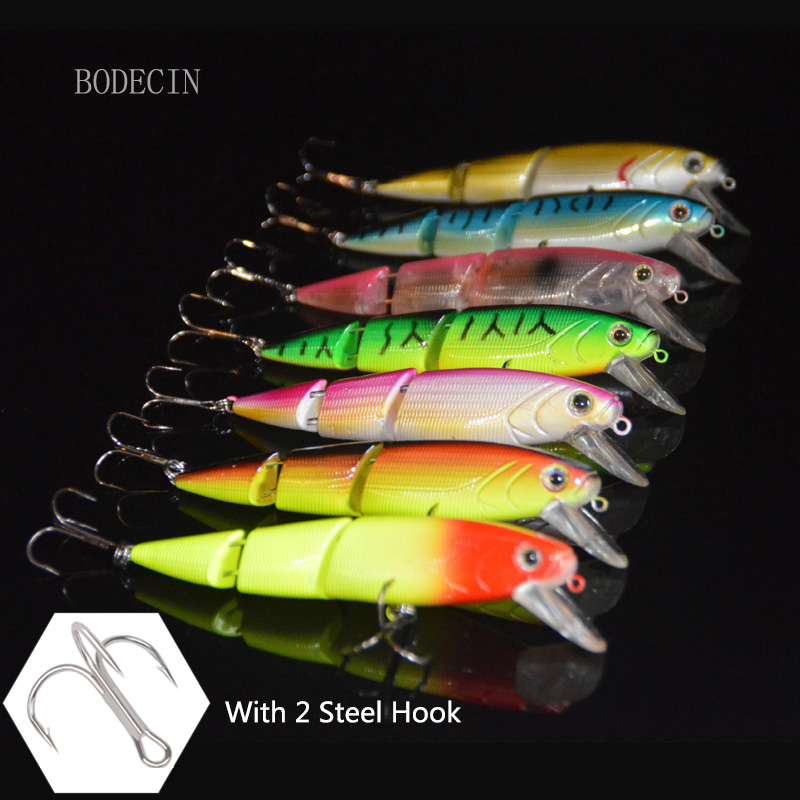 7PCS Minnow Wobblers Artificial Fishing Lure yo-zuri Trolling Lures Wobbler Bait For Crazy Fish Sea Tackle Peche Swimbait 11CM 1pcs big sea fishing lure 140cm 42g squid lure wobbler jigs fishing lures for trolling bionic squid minnow artificial hard bait