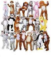 Adult Big Head Deluxe Animal Mascot Fancy Dress Costume Bunny horse teddy mascot costume Jumbo Plush for Halloween Purim party