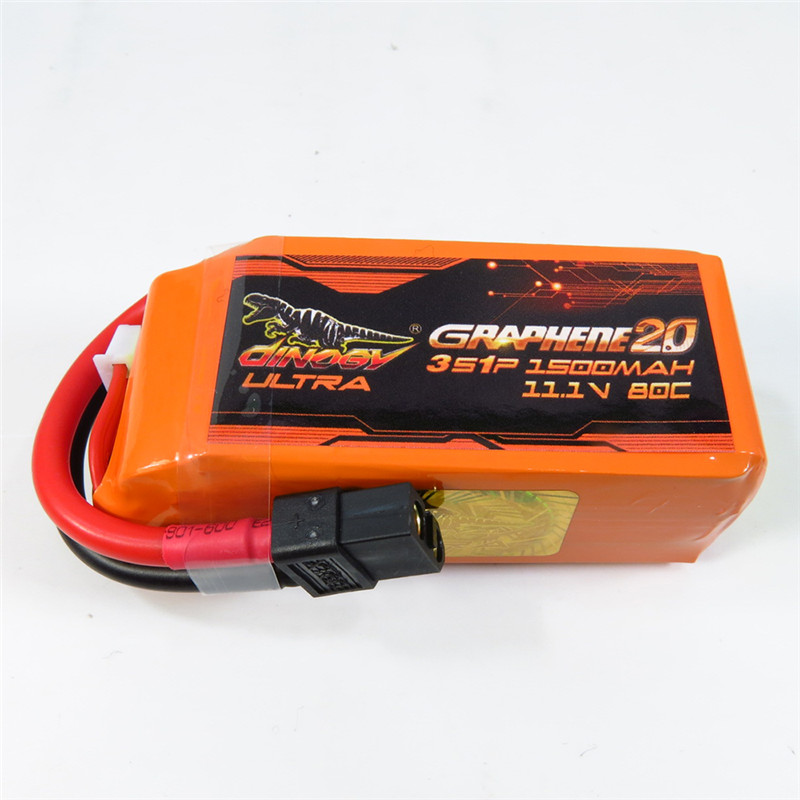 High Quality Giant Power DINOGY ULTRA GRAPHENE 2.0 11.1V 1500mAh 80C 3S Rechargeable Lipo Battery XT60 Plug For RC FPV Drone high quality realacc orange85 fpv racer spare part 3s 11 1v 450mah lipo battery for rc model