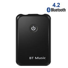2 in 1 Transmit Receive Wireless Bluetooth 4.2 AUX Adapter 3.5 mm Jack Audio for Tables TV Home Sound System Car Stereo System