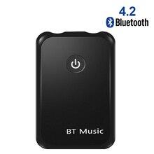 Receptor de Audio 2 en 1, adaptador AUX con Bluetooth 4,2, Conector de 3,5mm para mesas, TV, sistema de sonido estéreo para el coche