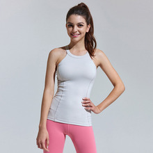 Women Yoga Top Sexy Gym Sportswear Vest Fitness Breathable tight woman clothing Sleeveless Running shirt Quick Dry Yoga Tank Top цены