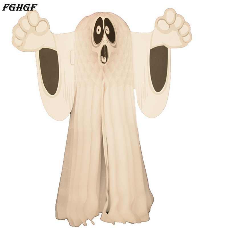 FGHGF Hot Halloween Carta Appeso Fantasma Sindone Door Hanger Pieghevole Divertimento Bianco Festa di Halloween Oggetti di Scena Decorazione