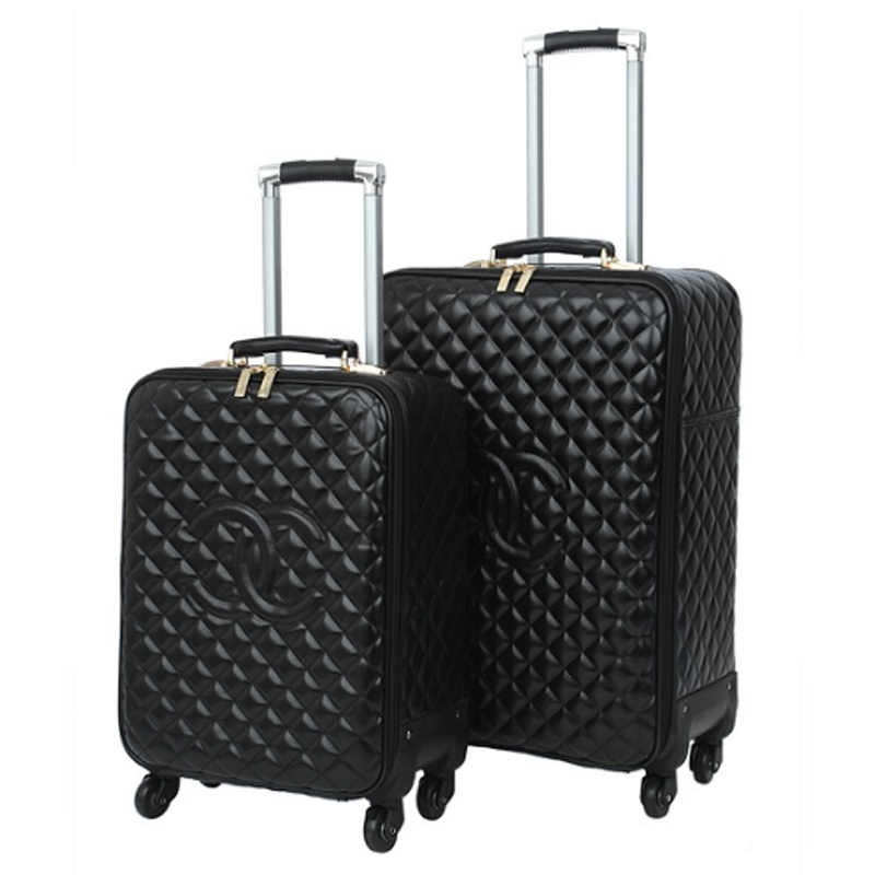 eb80b10d7c8c Fashion 16 20 24 size PU Rolling Luggage bag Spinner brand High capacity  Travel