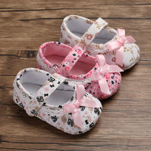 Candy Colors Newborn Baby Prewalker Soft Bottom Anti-slip Shoes Footwear Classic Princess Girl Crib Mary Jane Big Flower Shoes(China)